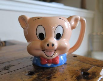 Porky Pig 3D Coffee Mug  made by applause with license from Warner Bros and Looney Tunes