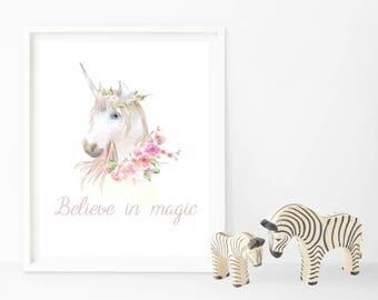 Unicorn - Believe in magic - Print