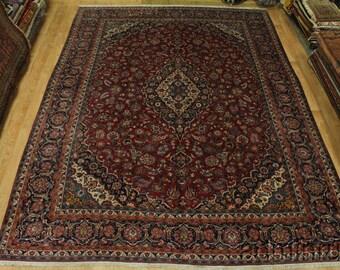 Extra Fine Masterpiece Floral Kashan Persian Wool Oriental Area Rug Carpet 11X15