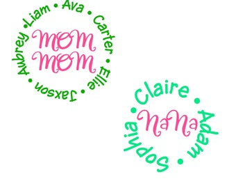 Grandparent's & Grandchildren's Names Decal