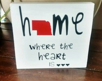Home is where the heart is sign - home sign - where the heart is sign