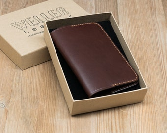 Leather Passport Cover, Leather UK Passport Cover, British Passport Cover, Sleeve, Wallet in Chestnut