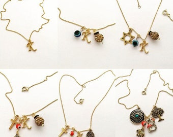 Customize these gorgeous sterling silver ans 14k gold necklaces!