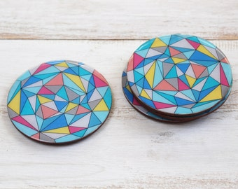 Colorful Geometric Coasters - Set of 4