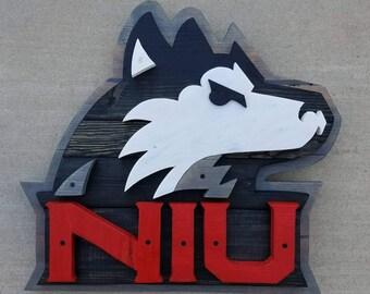 Northern Illinois Pallet Sign | Northern Illinois Huskies | NIU Huskies | Pallet Sign | Wood Pallet Sign | DeKalb Illinois