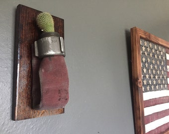 Firefighter Gift, Firefighter,Gift for him,Succulent Planter,Hanging Planter,Wall Planter,Fireman,Rustic,Upcycled,Fire House,Fire Hose