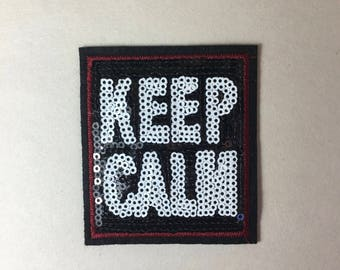 Keep Calm sign Iron on Patch