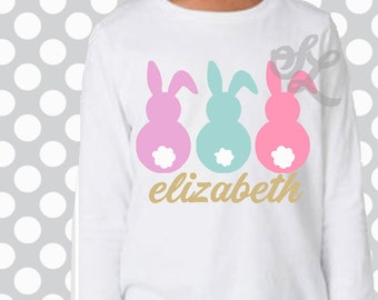Easter svg, Bunny svg, three bunnies, DXF, EPS, peep svg, easter, bunny tail, eps, dxf, girls Easter, monogram svg, rabbit svg, Kids easter