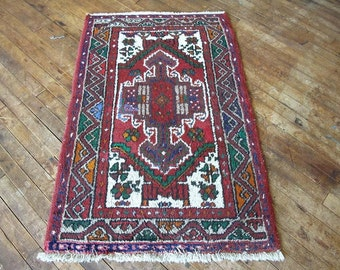 CLEARANCE 2'5x3'10 Vintage Persian Rug - Small Rug Persian Rug Wool Rug Hand knotted Rug Area Rug CORALINE