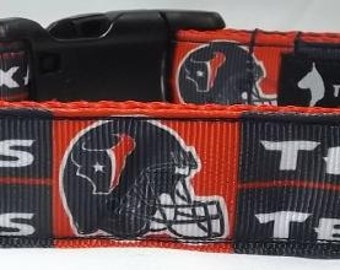 Houston Texans Dog Collar - NFL Dog Collar -  FREE Shipping