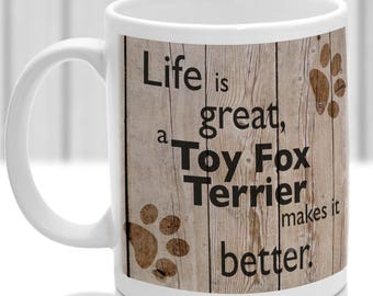Toy Fox TerrierMug Toy Fox Terrier Gift, dog breed mug, ideal present for dog lover