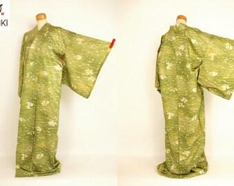 """Japanese M51108  """"Rohketsu-zome"""" Komon Kimono Vintage"""