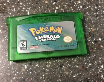 Pokemon Emerald Version Nintendo Gameboy Advance SP DS Saves