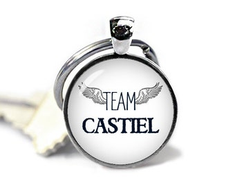Team Castiel  Supernatural Key Ring Keychain Supernatural Keyfob Fangirl Fanboy