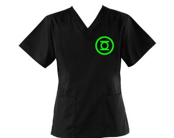 The Green Latern Scrub Top