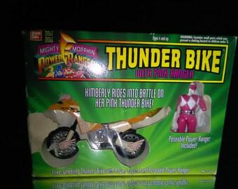 Vintage Power Rangers Action Figure Thunder Bike And Pink Ranger Bandai *****1990's*******