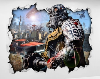 Fallout 4 etsy for Fallout 4 mural