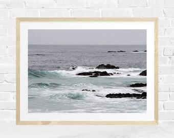 Ocean Print, Coastal Decor, Ocean View, Seascape, Wave Photography, Instant Download, Ocean Printable, Ocean Wall Art