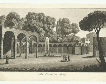 Villa Corsini-Rome-antique prints ' 800