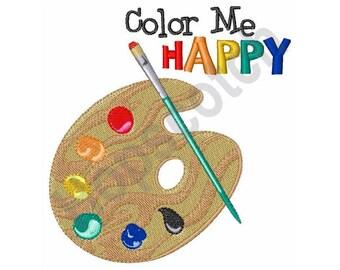 Color Me Happy Painters Pallet- machine embroidery design