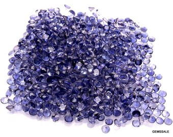 50 pcs 3mm Iolite Faceted Round Loose Gemstone Nice AAA Quality 100% Natural Faceted Iolite Round Gemstone Loose Iolite Gems Wholesale Lots