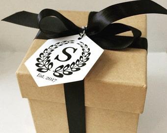 Monogram Tags, Wedding Monogram, Wedding Favors, Thank You Tags, Favor Tags, Wedding Gift Tag, Wedding Tags, Monogram Gift Tags, 10