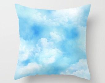Cloud Pillowcase, Pillow Cover, Sky Pillow, Pillow Case, Nature Pillowcase, Blue Pillow, Nature Pillow, Accent Pillow, Home Decor, Boho Home