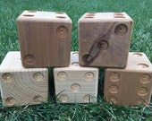 5 unpainted cedar yard dice for Yardzee
