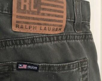 Vintage Ralph Lauren Gray/Black Jeans