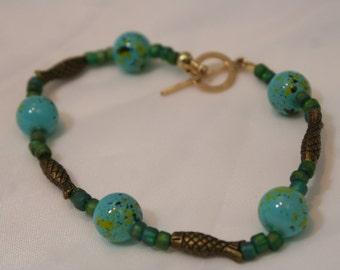 HANDMADE BEADED FISH Bracelet