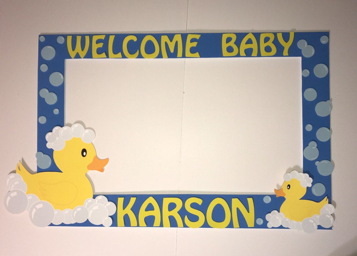 Delightful Rubber Duck Baby Shower Party Photo Booth Frame