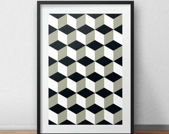 Posters, Art Print, digital printing, Scandinavian design, minimal furnishings, immediate download,