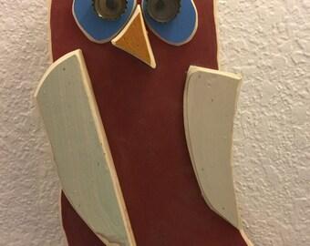 """Folk Art Owl """"Isaac"""""""