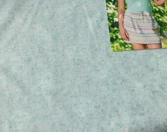 Linen Jersey Valja Mint green Hilco mix women's fabric by the metre melange 0, 50 m