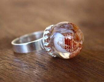 ring resin shells tropical boho gypsy Beach