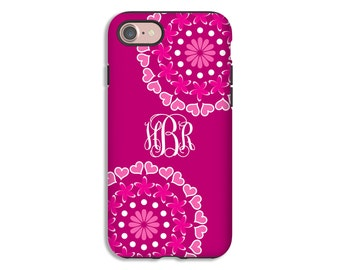 iPhone 7 case, mandala iPhone 8 Plus case, monogram iPhone X case, iPhone 7 Plus case, iPhone 8 case, mandala phone case, monogrammed gift