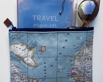 WORLD MAP pouch.