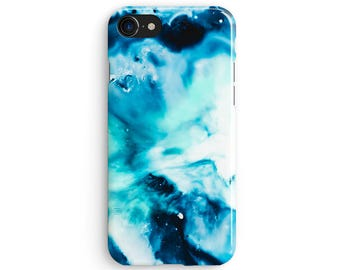 Marble blue bath bomb - iPhone X case, iPhone 8 case, iPhone 8 Plus, iPhone 7 case, Samsung Galaxy Note 8 case 1C102