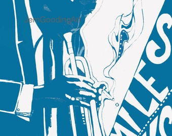 Miles Davis Blue Giclee Print