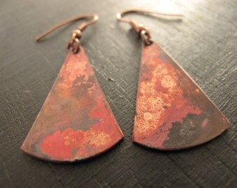 patinated copper earring is hot