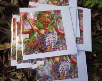 Pschedelic Princess Mandarava blank gift card
