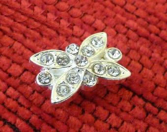 Zircon Rhinestone Pendants, Rhinestone Charms, Necklace Connectors, Fashion Jewelry Accessories, Floral Pendants,  DIY Jewelry Findings
