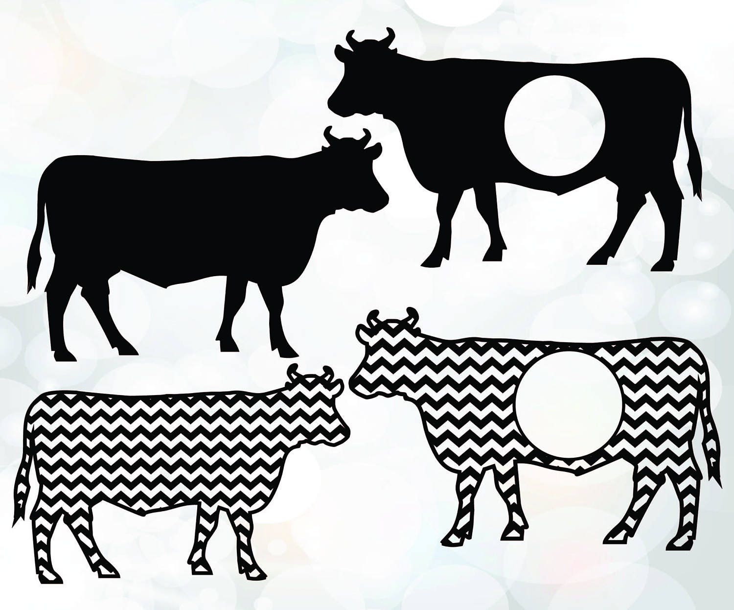 Cow SVG - Calf Clipart - Vector ClipArt for Commercial and ... for Cow And Calf Clipart  146hul