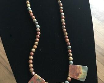Jasper & Quartz Necklace