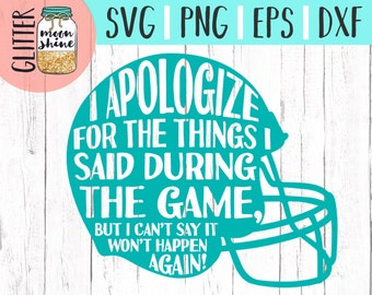 Football Fan svg eps png dxf cutting files for silhouette cameo cricut, Sports Designs, Football, Team, Football Dad, Mama, Fan, CU OK