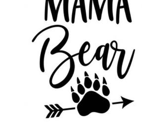 Mama bear // mama bear sticker // mama bear decal // yeti decal for women / mom decal / tumbler decal / car decal / laptop decal / mug decal