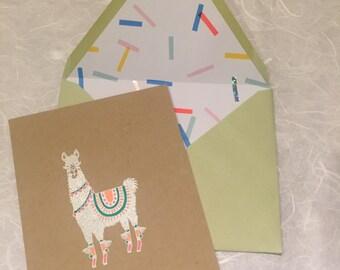 Party Animal Llama Card