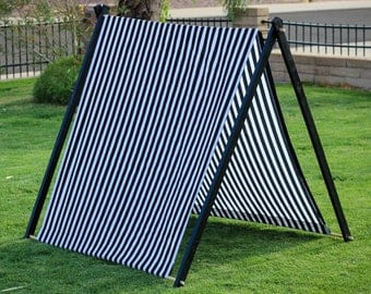 Striped Kid's Play Tent, A-Frame Tent, Sun Shade, Glamping Tent, 1st Birthday Gift, Kids Teepee, Fort, A Frame Camping Tent, Nursery Decor