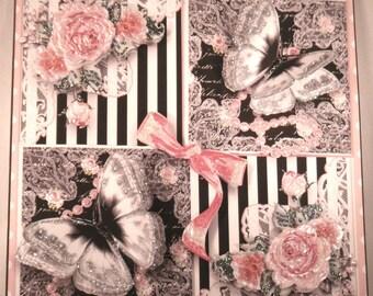 Black & White Flutters  Multi-Occasion