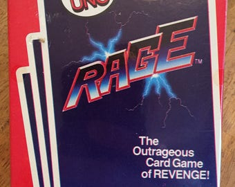 1983 Complete / Unopened Rage - The Outrageous Card Game of Revenge! By UNO makers